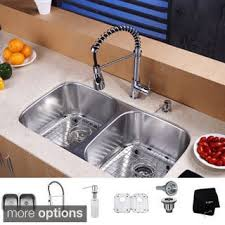 Sink With Double Faucet Stainless Steel Sink U0026 Faucet Sets Shop The Best Deals For Nov