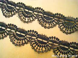 black lace trim black lace trim 2 yards black aulic features lace trim l426