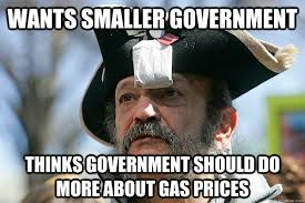 Funny Government Memes - wants smaller government thinks government should do more about