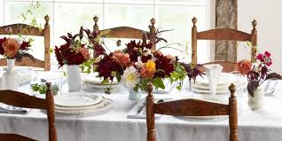 thanksgiving dinner table settings frances palmer fall tablescape autumn table setting idea