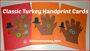 thanksgiving handprint turkey handprint cards archives all done monkey