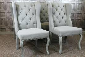 winged dining chairs photo brown leather wingback dining chairs