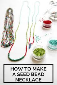make seed bead necklace images How to make a seed bead necklace pinterest bead necklaces jpg