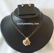 necklace with black diamonds images Black diamonds mangalsutra models jewellery designs jpg