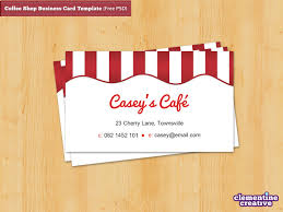 coffee shop business card template free psd