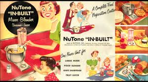 1950s nutone in built blender mixer for the kitchen of the future