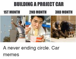 Project Car Memes - building a project car 1st month 2nd month 3rd month gettyi a never