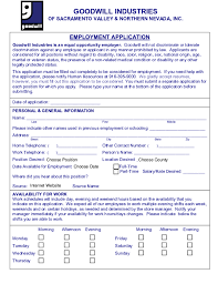 Position Desired Resume Free Printable Goodwill Job Application Form