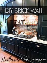 Where To Buy Kitchen Cabinets by Diy Brick Backsplash Redhead Can Decorate