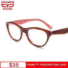 blue light prescription glasses triumph vision acetate pink myopia glasses anti blue light