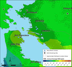 Map Of Greater San Francisco Area by Air Pollution And Asthma In Children Asthma Collaboratory Ucsf