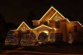 Hanging Christmas Lights by Exterior Outdoor Home Lights Ideas Led Chain Lights Surround The