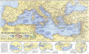 Map Of Mediterranean Europe by National Geographic Historical Maps Europe Wall Maps Maps