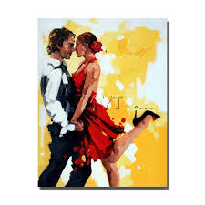 paint man couple dancing canvas oil painting hand drawing man and women sex