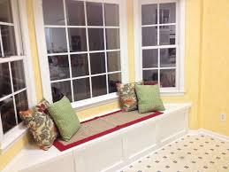 Painting Wood Windows White Inspiration Beauteous U Shaped Bay Window Seat Design Ideas With Soft Blue