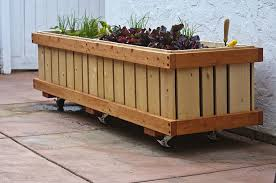 Cool Planters Movable Planter Boxes How To Make Wooden Planter Boxes