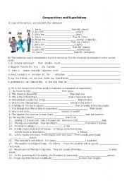 comparative and superlative adjectives worksheet by reni b