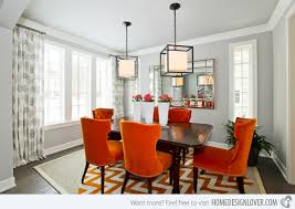 Other Orange And Grey Dining Room Remarkable On Other For Round - Grey dining room