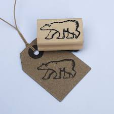 east of india polar bear rubber stamp christmas scrapbooking craft