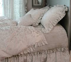 White Ruffled Comforter Bedding Set Shabby Chic For Romantic Bedroom Ideas Awesome