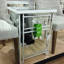 Mirrored Night Stands Nightstand Home Goods Mirrored Nightstand With Regard To