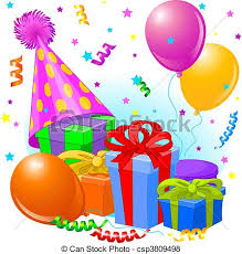 vector of birthday gifts and decoration birthday gifts and