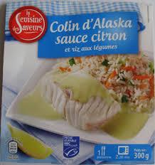 colin cuisine colin d alaska sauce citron et riz aux légumes la cuisine des
