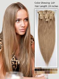 24 inch extensions 24 inch brown clip in hair extensions 135g uss1424