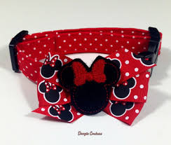 minnie mouse inspired dog collar size xs large