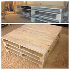 themed coffee table white washed recycled pallets for themed living room