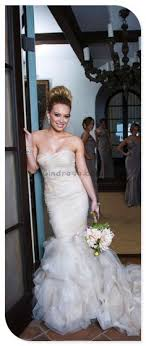 hilary duff wedding dress the high bun with veil underneath hilary duff