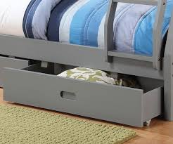 Coaster Furniture  Twin Over Full Grey Bunk Bed Full Size - Twin over full bunk bed with storage drawers