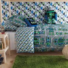 big boy bed kas kids vintage robots quilt covers shopinside