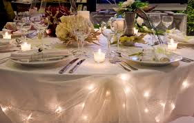 wedding tables wedding lights ideas