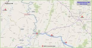 Wv Map Sheperdstown Wv Railfan Guide