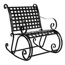 White Rocking Chair Outdoor by Bcp Patio Iron Scroll Rocker Porch Rocking Chair Outdoor Seat