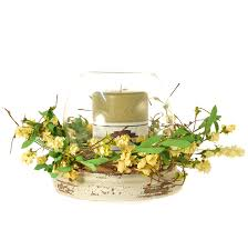 flower candle rings yellow floral wildflower 7 5 inch candle rings