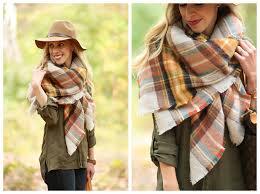 blanket plaid zara oversized plaid blanket scarf yellow and