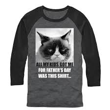 Black Flag Baseball Tee Grumpy Cat Men U0027s Father U0027s Day Gift Baseball Tee