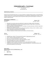 Resume Job Description For Administrative Assistant by Charming Sample Administrative Assistant Resume Position Executive