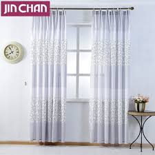 Living Room Curtains Blinds Geometric Patterns Curtain For The Bedroom Polyester Modern