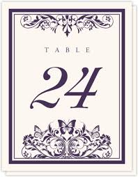 birds and butterflies wedding reception table number card ideas