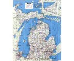 Michigan Indian Tribes Map by Maps Of Michigan State Collection Of Detailed Maps Of Michigan