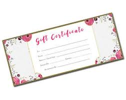 blank gift certificate floral flowers tropical gift