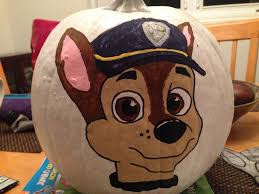 chase painted paw patrol pumpkin events pinterest paw patrol
