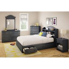south shore summer breeze twin mate u0027s bed with storage multiple