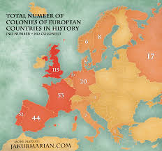 map of colonies number of colonies of european countries map