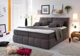 Schlafzimmer In Grau Black Red White Boxspringbett Baltimore In Grau Mit Stauraum
