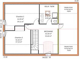 surface chambre surface habitable d une maison plan traditionnelle 3 chambre etage