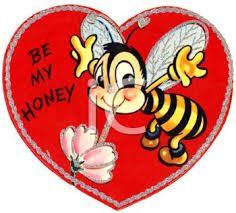 retro valentines royalty free clipart image retro s day card with a bee